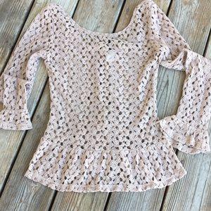 Mimi Chica Brown Crochet Top